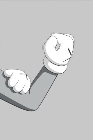Kaws iPhone Hand Gesture iPhone Wallpaper