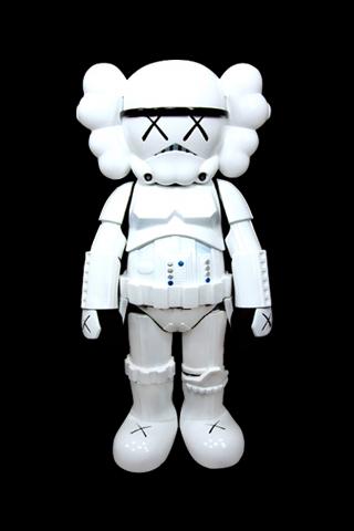 Kaws iPhone x Storm Trooper iPhone Wallpaper