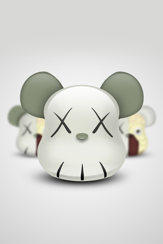 Kaws iPhone Bearbrick iPhone Wallpaper
