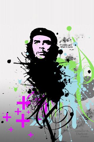 Abstract Che Guevara iPhone Wallpaper