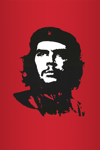Red Che Guevara Vector iPhone Wallpaper