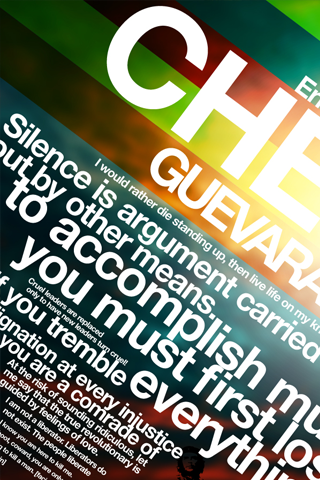 Che Guevara Text Collage iPhone Wallpaper