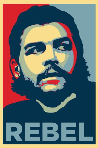 Che Guevara - Rebel Vector iPhone Wallpaper