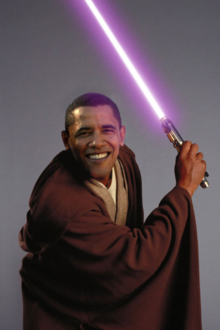 Barack Obama x Mace Windu iPhone Wallpaper