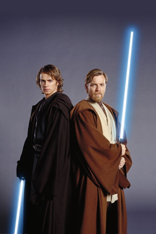Anakin Skywalker & Obi Wan iPhone Wallpaper