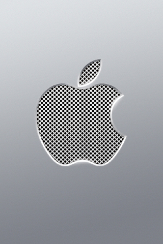apple logo wallpaper white. Perforated Apple Logo