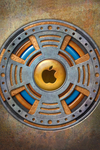 3D Sewer Apple Logo iPhone Wallpaper
