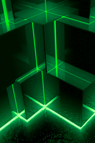 3d green cubes iphone wallpaper idesign iphone