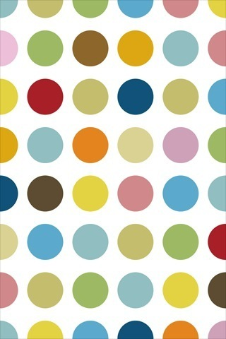 Colorfull Dot Pattern iPhone Wallpaper