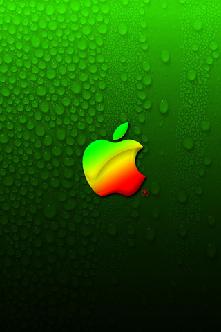 Clean Apple Logo iPhone Wallpaper