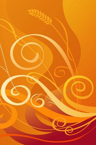 Abstract Vector Swirls iPhone Wallpaper