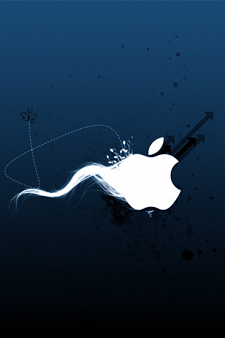 Abstract Apple Sperm Logo iPhone Wallpaper