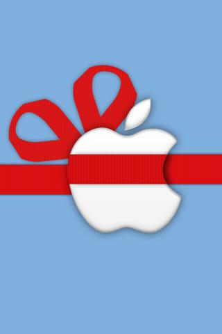 Apple Gift Logo iPhone Wallpaper