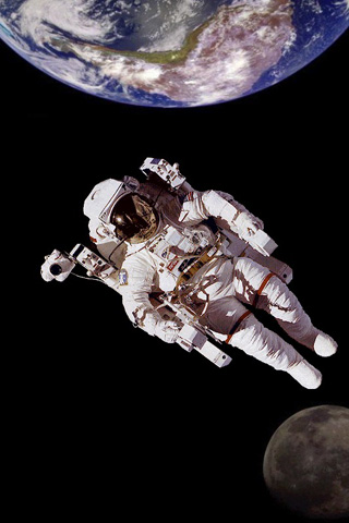 Floating Astronaut iPhone Wallpaper