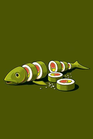 Real Sushi Vector iPhone Wallpaper
