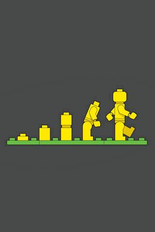 Lego Evolution iPhone Wallpaper