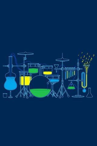 Scientific Musical Instruments iPhone Wallpaper