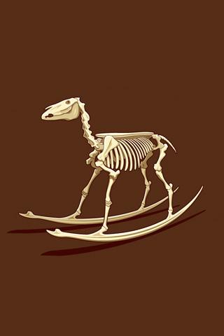 Dead Rocking Horse iPhone Wallpaper