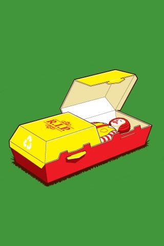 Dead Ronald Mcdonalds (10 Piece) iPhone Wallpaper