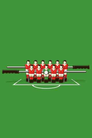 Foosball No Table iPhone Wallpaper