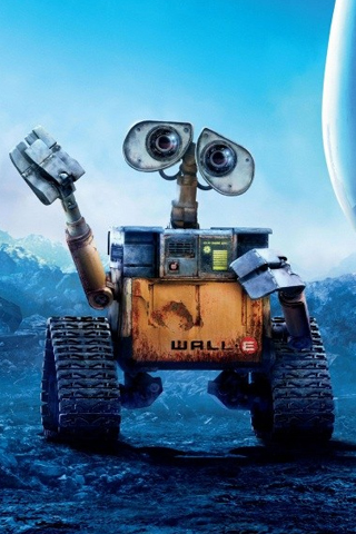 Wall E Waving iPhone Wallpaper