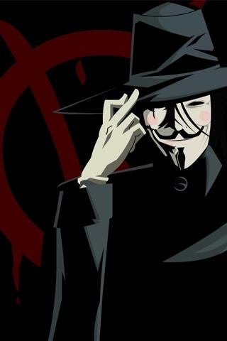 V for Vendetta Vector iPhone Wallpaper