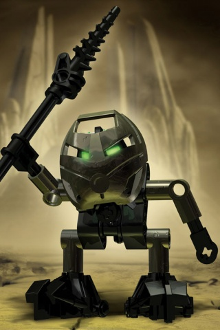 Angry 3D Robot iPhone Wallpaper