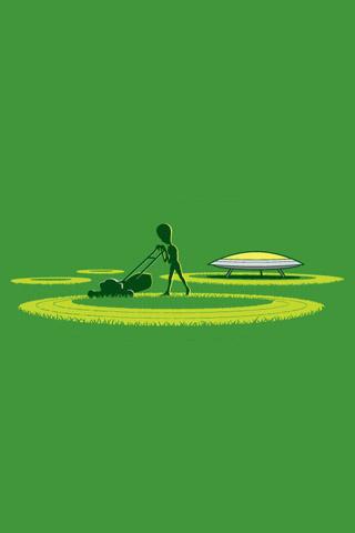 Alien Crop Circles iPhone Wallpaper   iDesign iPhone  Alien Crop Circ...