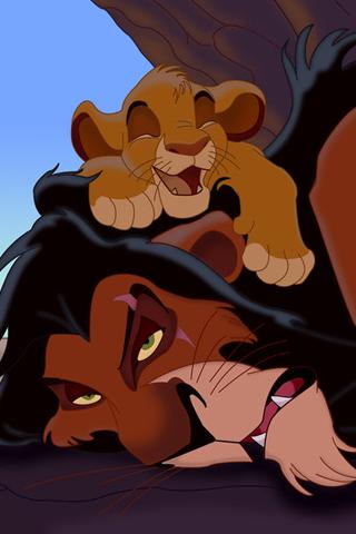 The Lion King - Simba & Scar iPhone Wallpaper