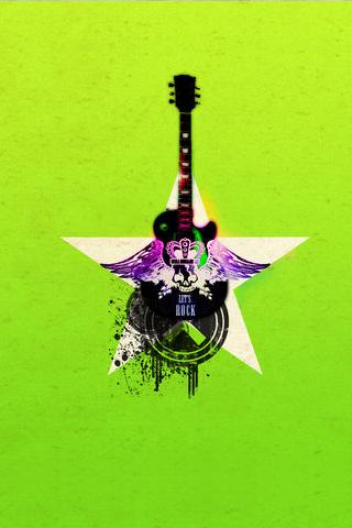 Indie Rock Collage iPhone Wallpaper