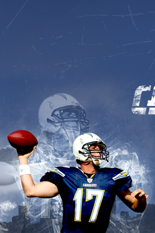 San Diego Chargers - Philip Rivers iPhone Wallpaper