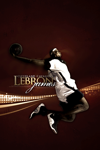 Cleveland Cavaliers - Lebron James iPhone Wallpaper
