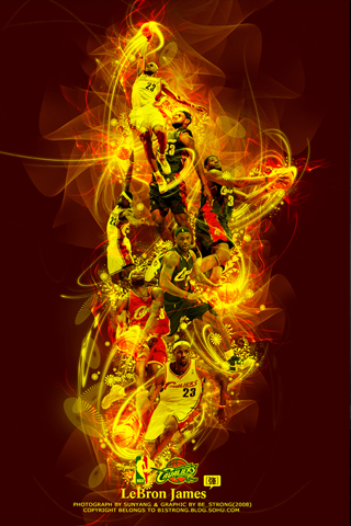 Lebron James Collage IPhone Wallpaper