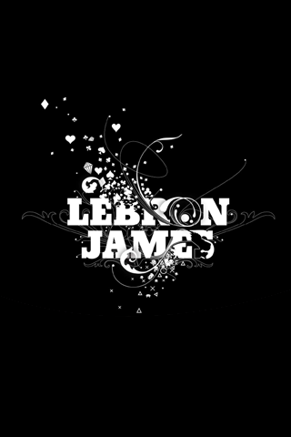 Lebron James Abstract Logo iPhone Wallpaper