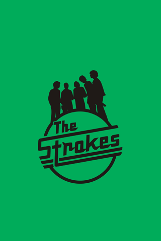 The Strokes Green Logo iPhone Wallpaper