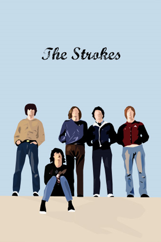 The Strokes Vector iPhone Wallpaper