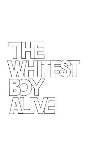 The Whitest Boy Alive Logo iPhone Wallpaper