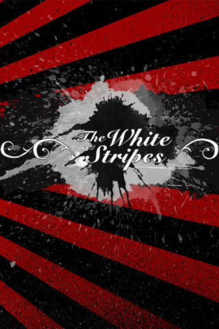 The White Stripes Logo iPhone Wallpaper