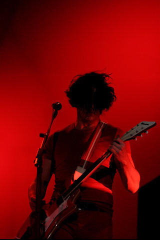 The Red Stripes - Jack White iPhone Wallpaper