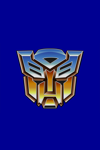 Transformers Blue Autobots Logo Iphone Wallpaper Idesign Iphone