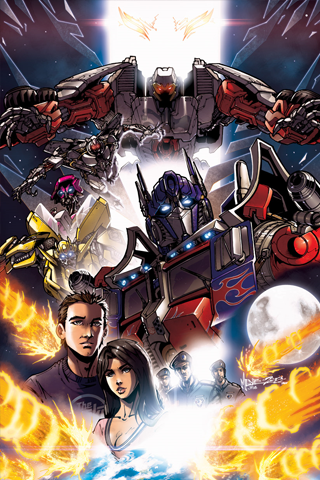 The Transformers Movie Drawing iPhone Wallpaper