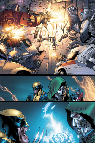 Transformers x Avengers iPhone Wallpaper