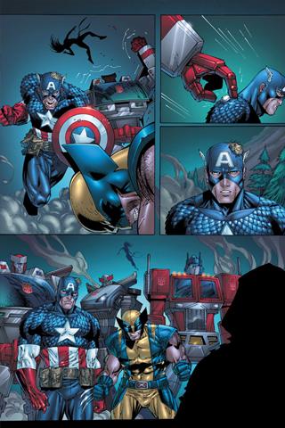 Avengers x Transformers iPhone Wallpaper