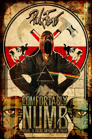 Pin Floyd - Comfortably Numb Poster iPhone Wallpaper