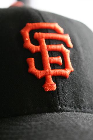 San Francisco Giants Hat Closeup iPhone Wallpaper