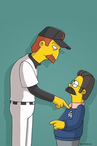 San Francisco Giants x Ned Flanders iPhone Wallpaper