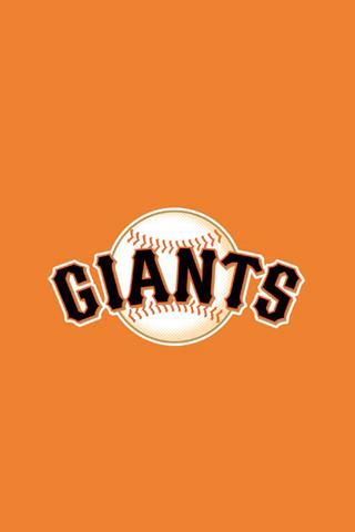 San Francisco Giants Orange Logo iPhone Wallpaper