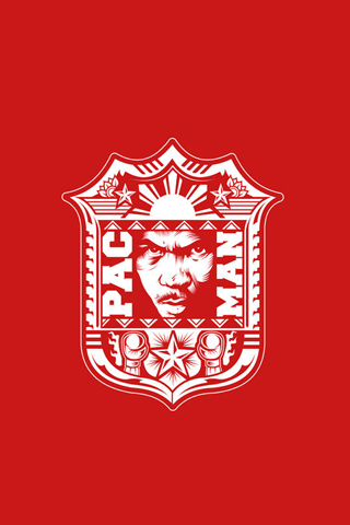 Manny Pacquiao - Manny Pacman Red Crest iPhone Wallpaper