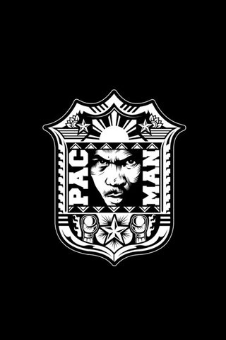 Manny Pacquiao - Manny Pacman Black Crest iPhone Wallpaper