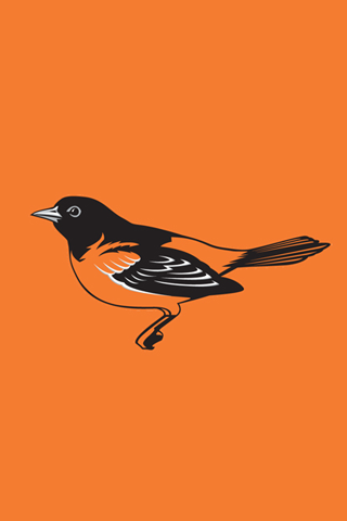 Baltimore Orioles Orange Logo iPhone Wallpaper